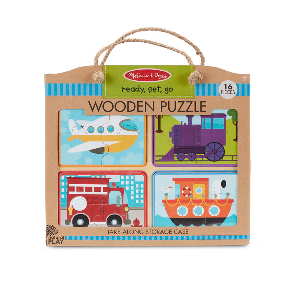 Melissa and Doug Wooden Puzzle Ready, Set, GO!