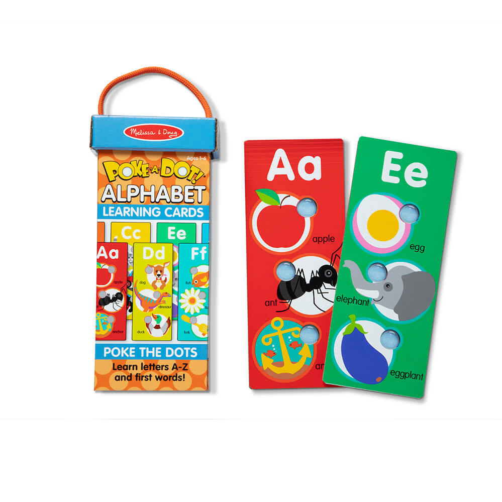 Melissa and Doug Poke-A-Dot ABC Learning Cards