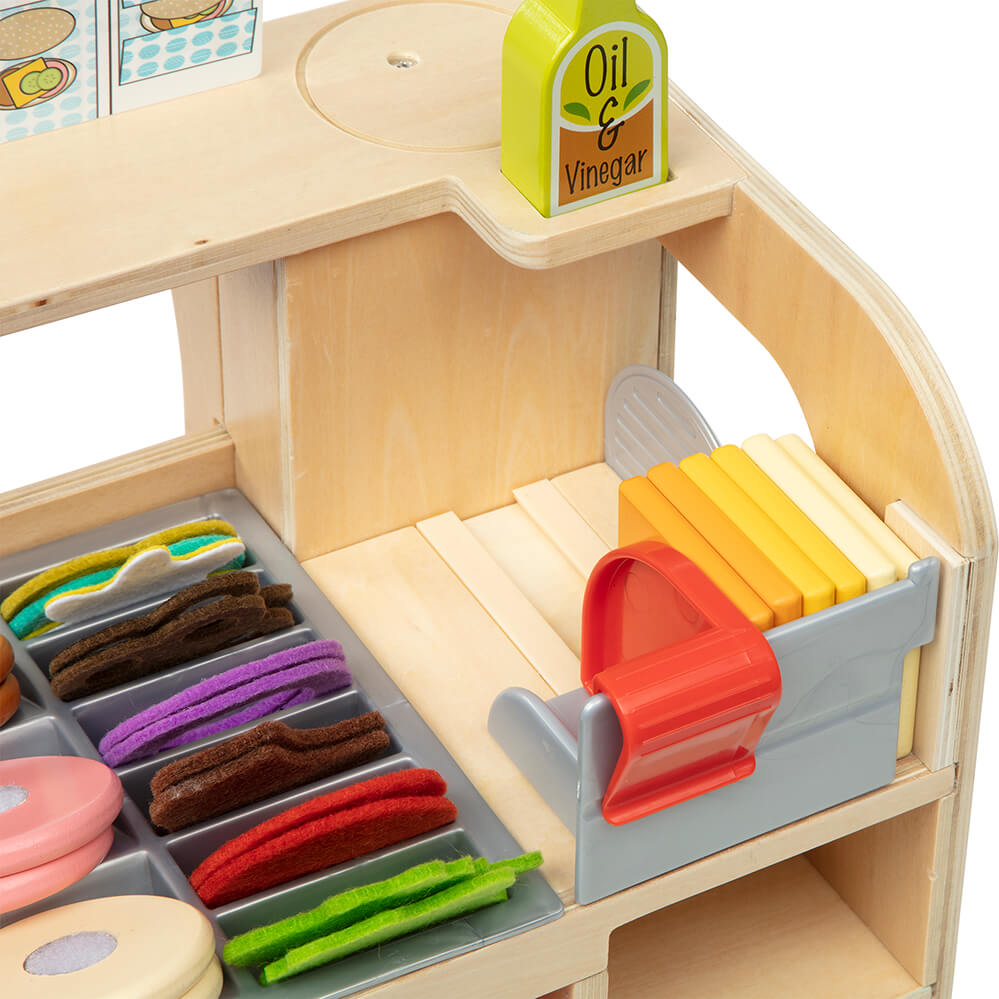Melissa and Doug Wooden Slice & Stack Sandwich Counter