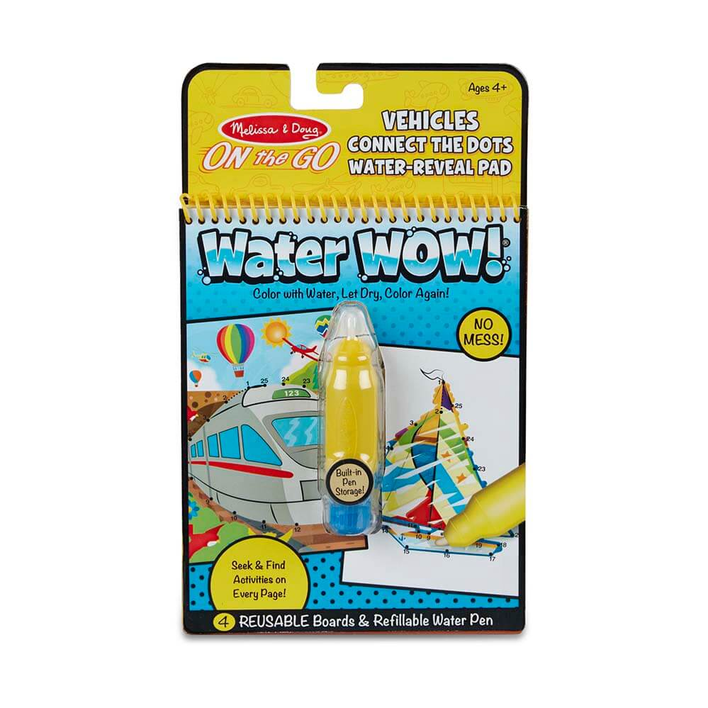 Melissa and Doug Water Wow Vehicles Connect the Dots