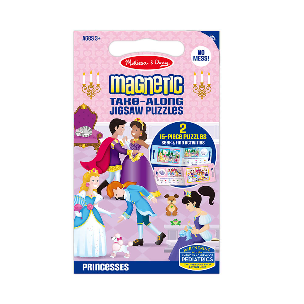Melissa and Doug Princess Take Along Magnetic Puzzle