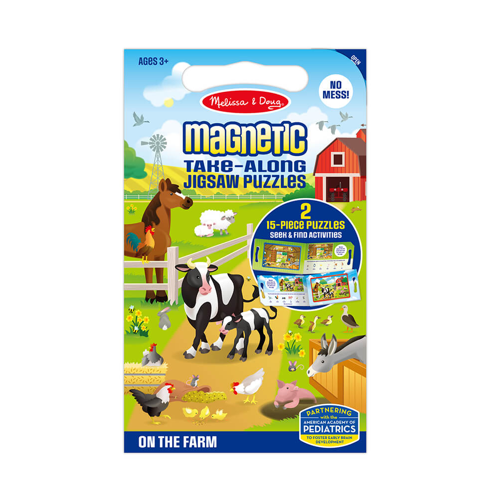 Melissa and Doug On the Farm Take Along Magnetic Puzzle