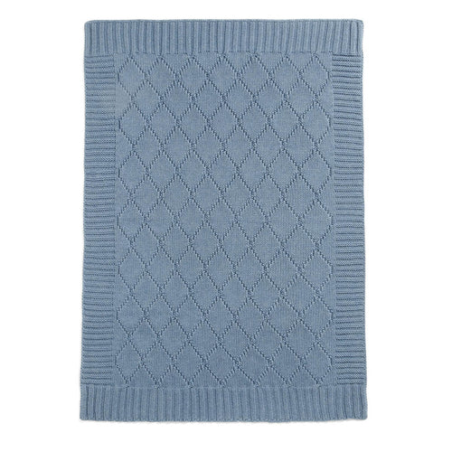 Mamas and Papas Denim Cable Knitted Blanket