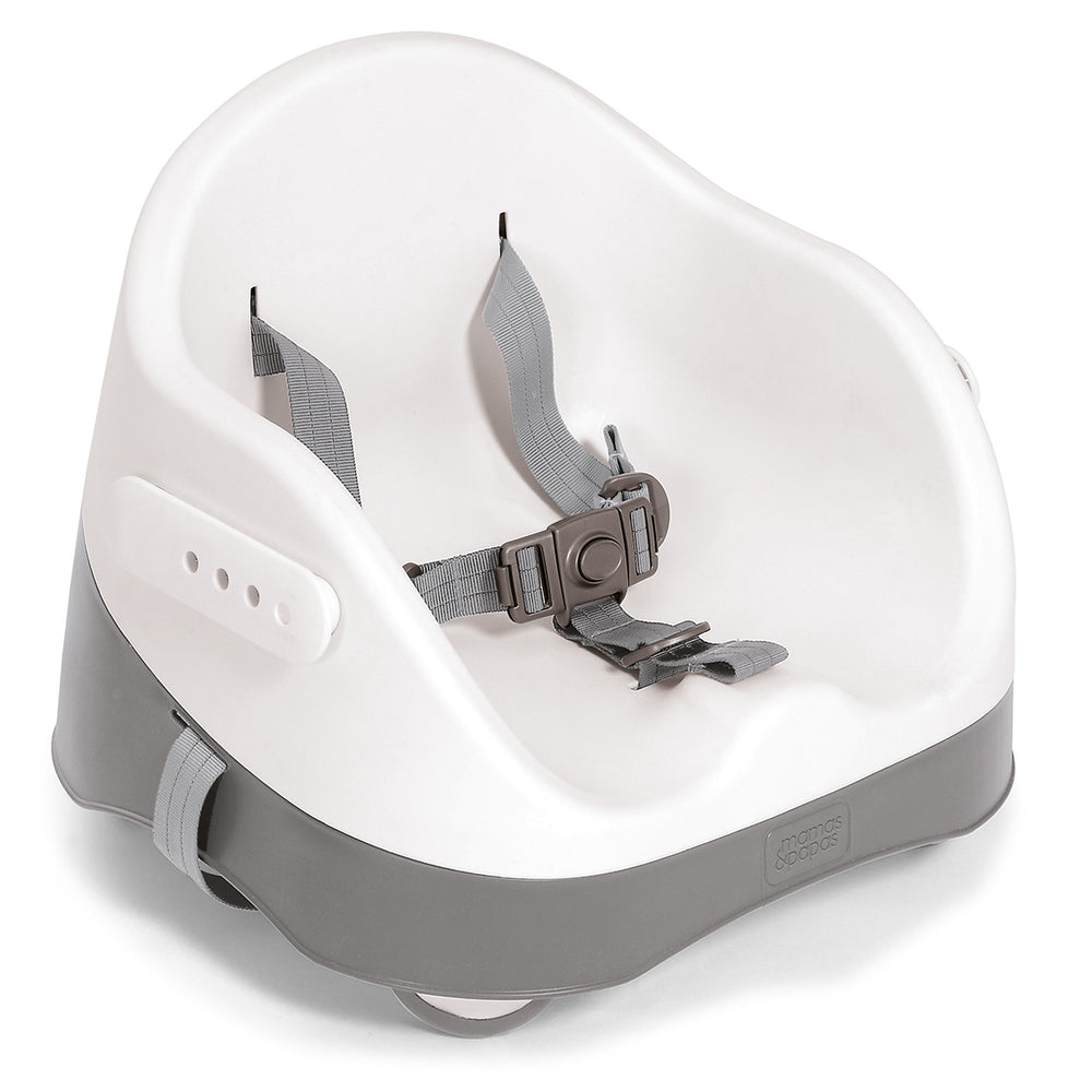 Mamas and Papas Soft Grey Bud Booster Seat with Play Tray