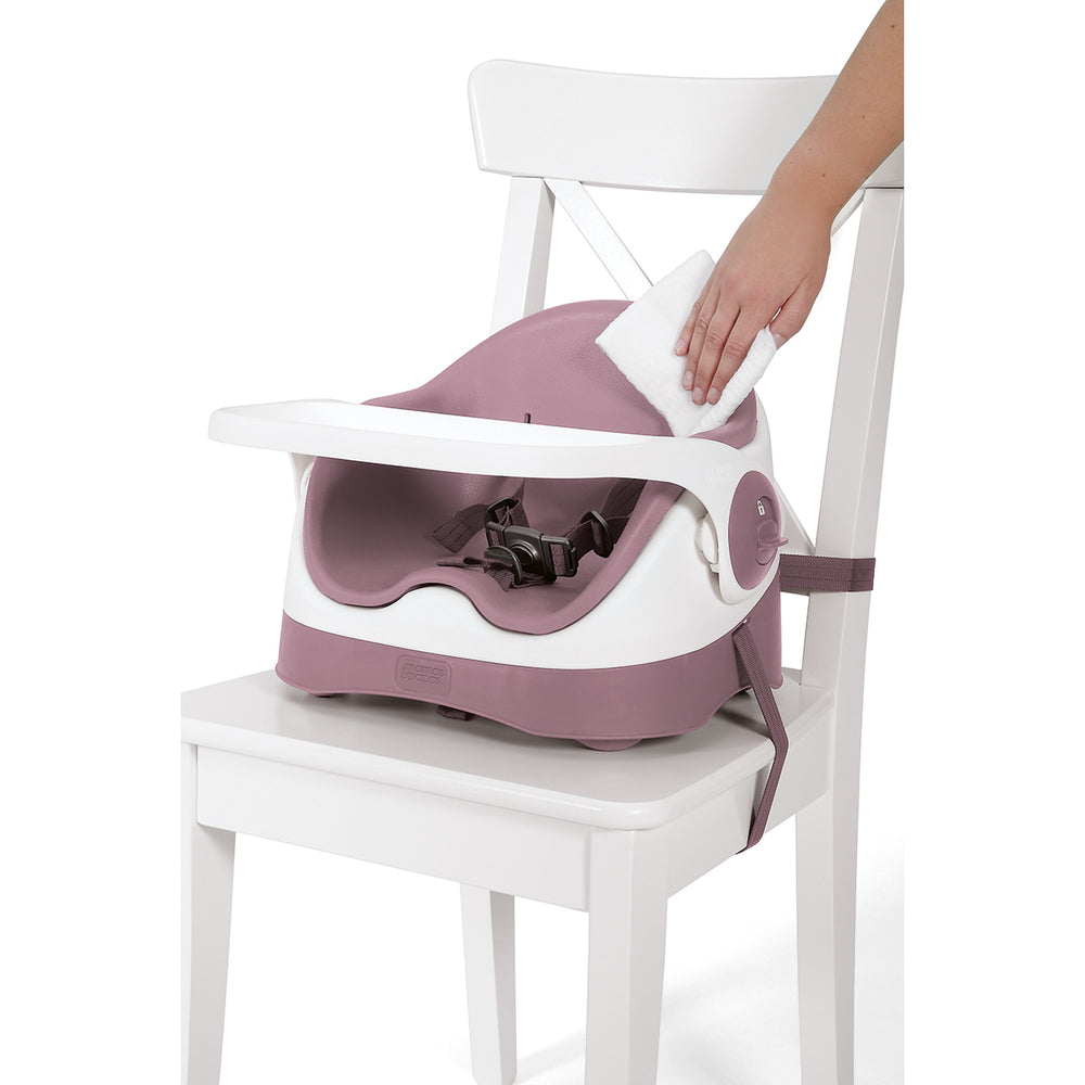 Mamas and Papas Dusky Rose Bud Booster Seat with Play Tray