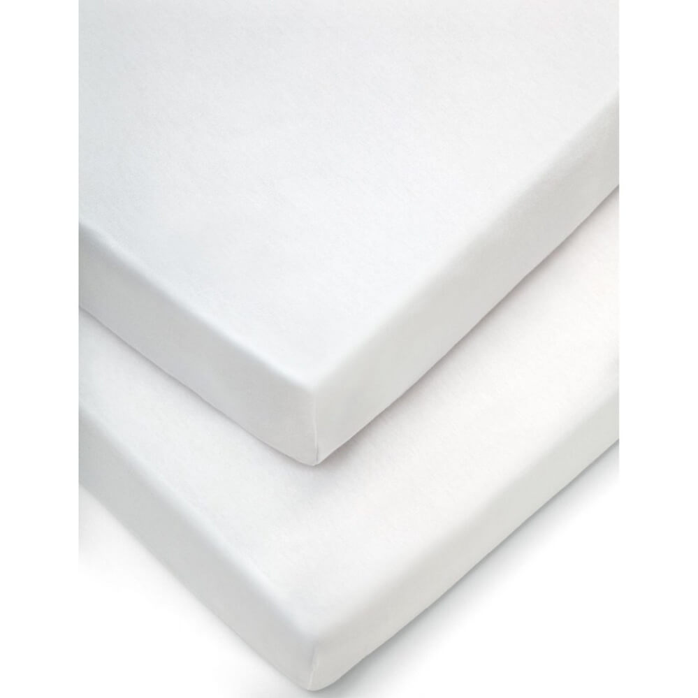 Mamas and Papas White Cotbed Fitted Sheet (Pack of 2)