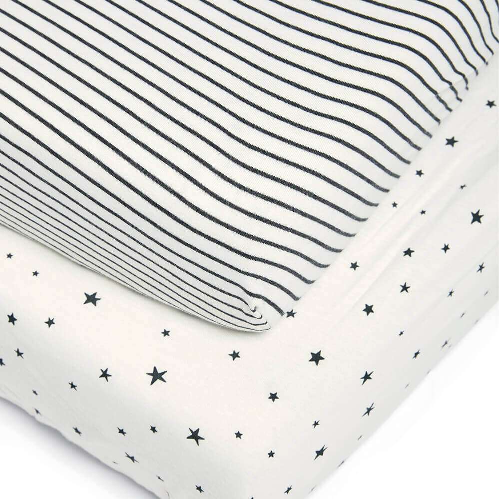 Mamas and Papas Starry Skies Cotbed Fitted Sheet (Pack of 2)