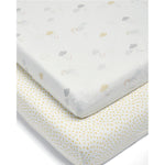 Mamas and Papas Dream Upon a Cloud Cotbed Fitted Sheet (Pack of 2)