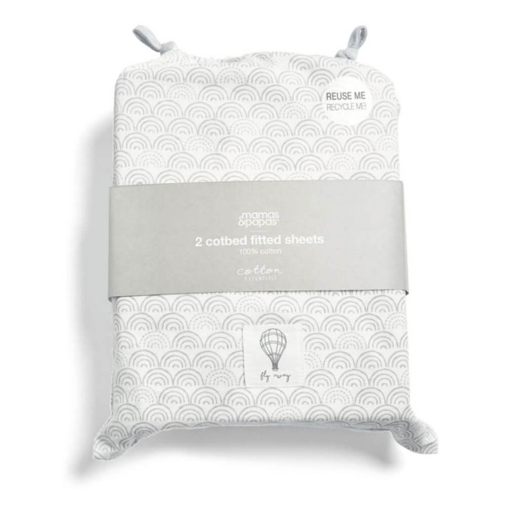 Mamas and Papas Balloon Cotbed Fitted Sheet (Pack of 2)
