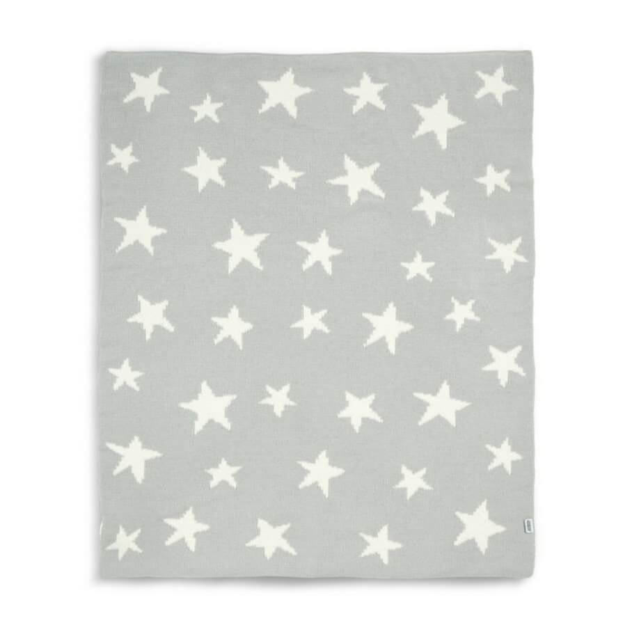 Mamas and Papas Grey Star Chenille Blanket