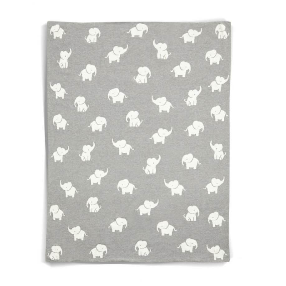 Mamas and Papas Elephant Grey Blanket