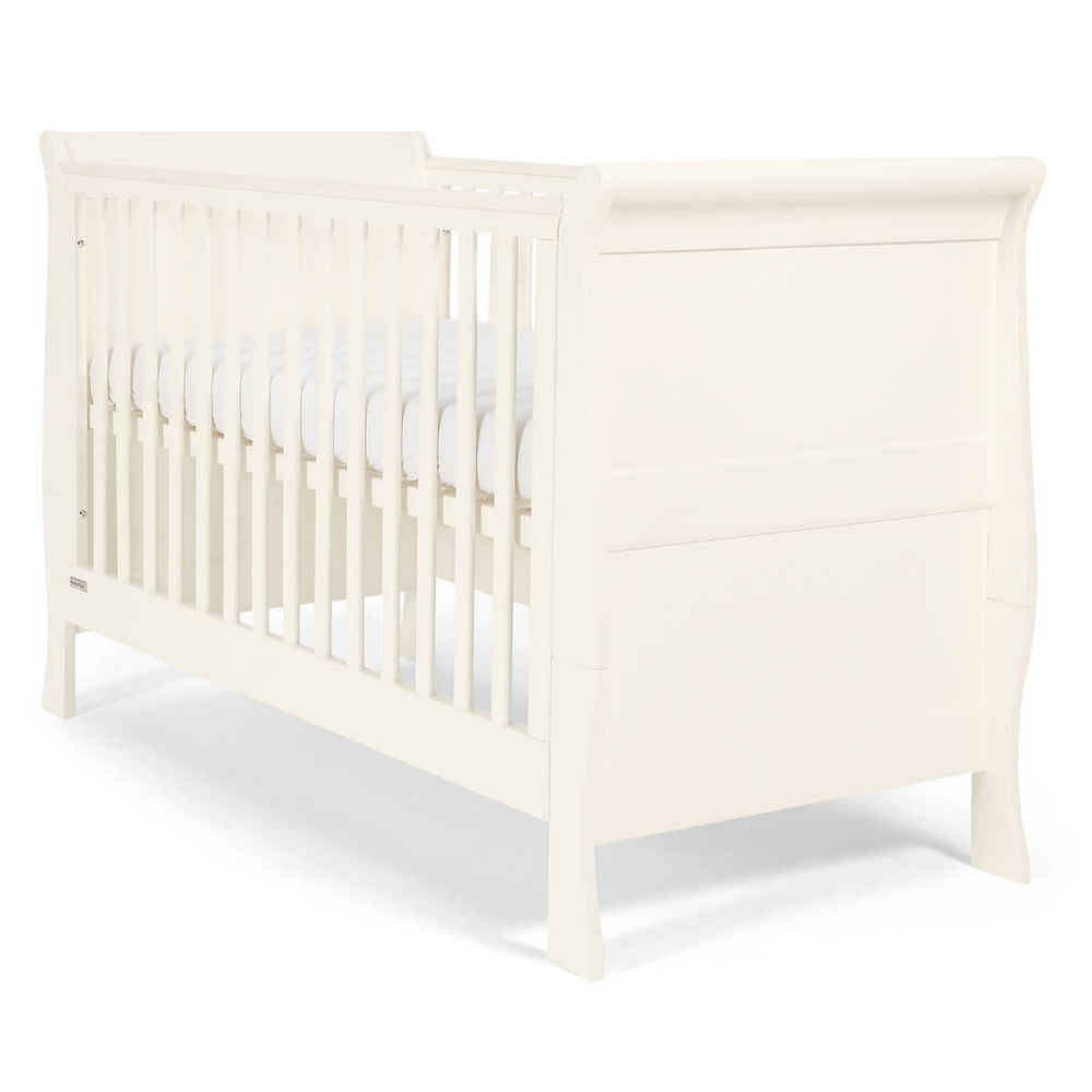 Mamas and Papas Mia Sleigh White Cot