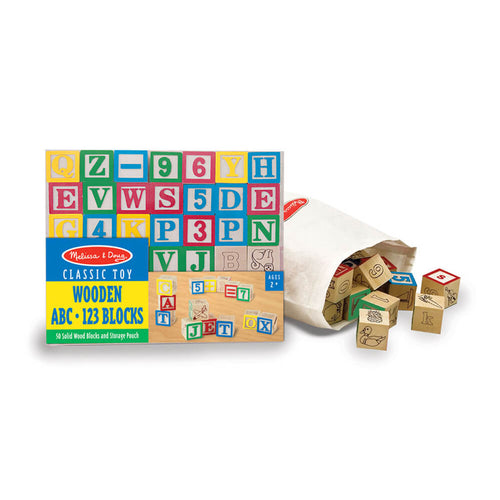 Melissa and Doug Wooden ABC & 123 Blocks