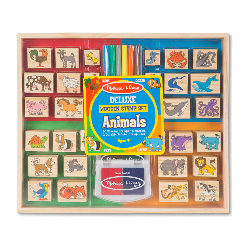 Melissa and Doug Deluxe Animals Stamp Set