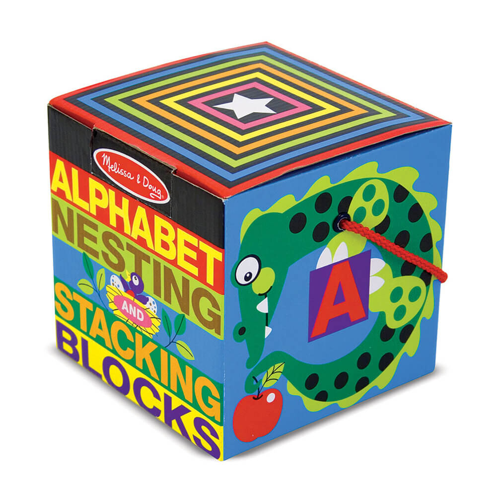 Melissa and Doug Alphabet Nesting & Stacking Blocks
