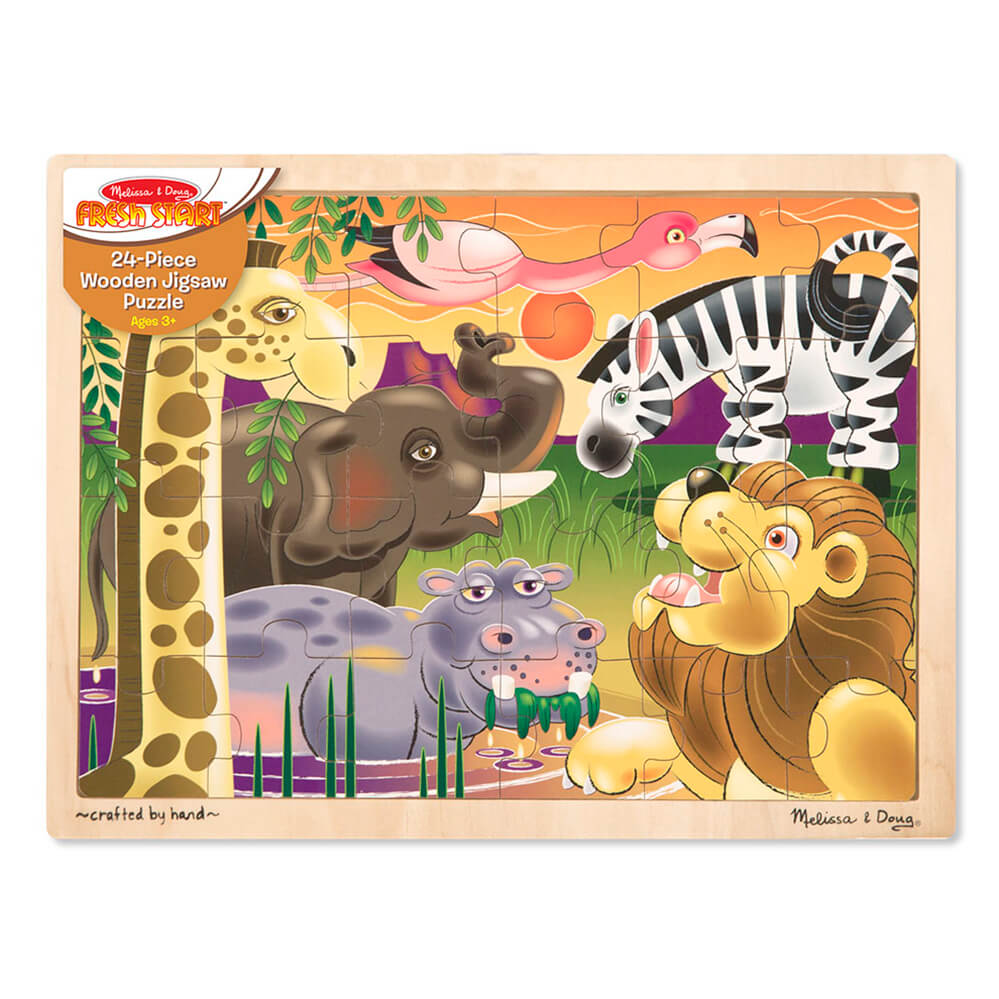 Melissa and Doug African Plains Wooden Puzzle 24pcs