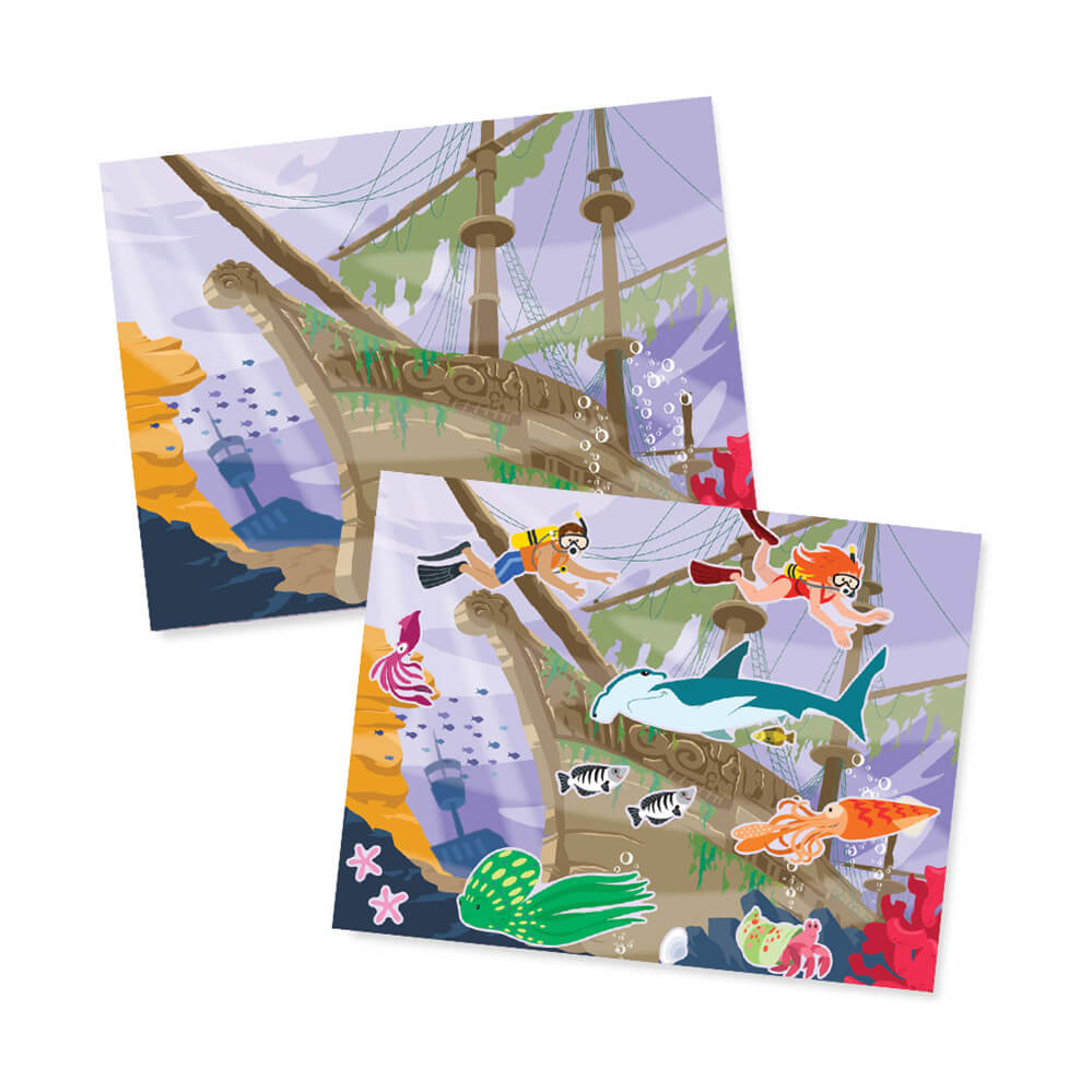 Melissa and Doug Reusable Sticker Pad Under the Sea