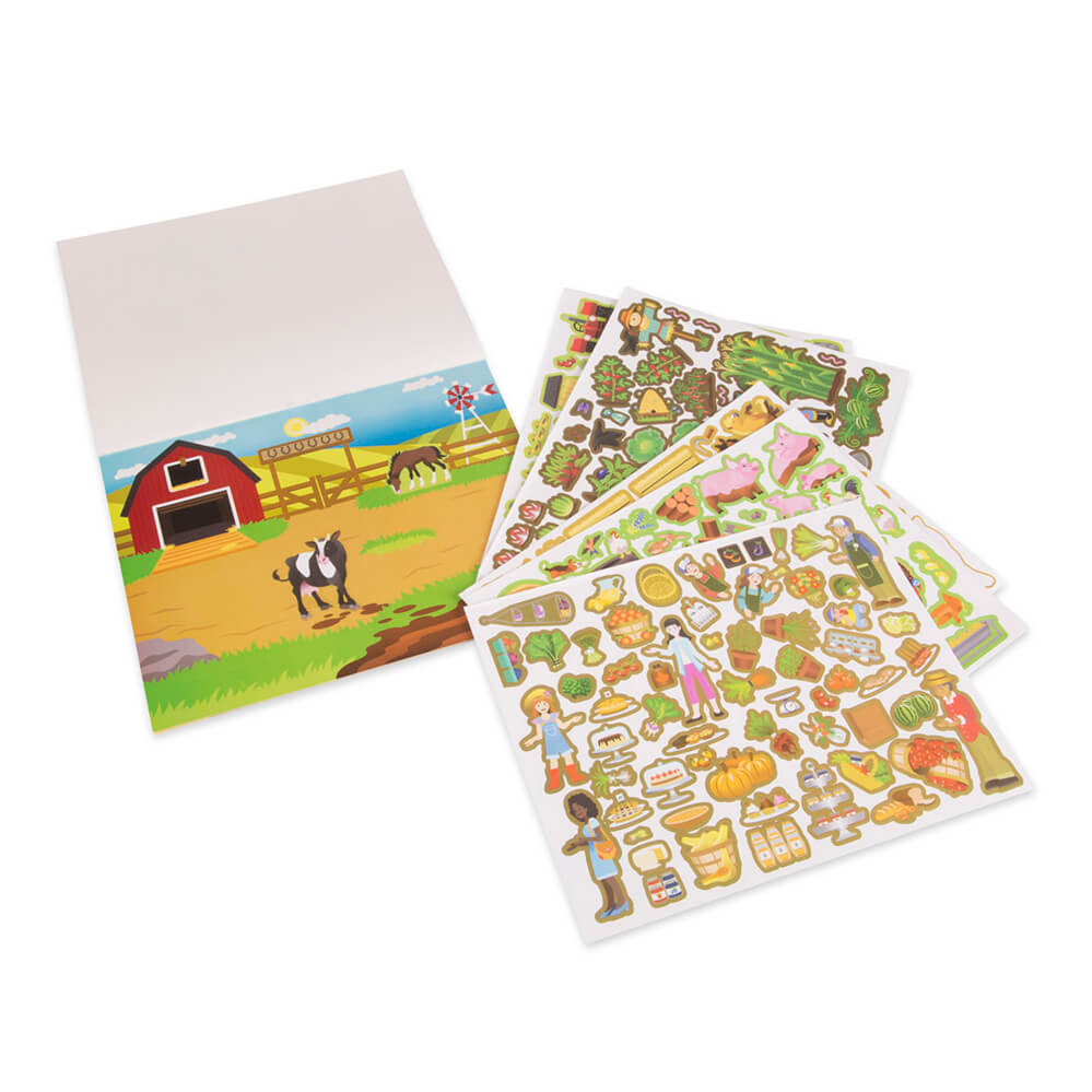 Melissa and Doug Reusable Sticker Pad Farm