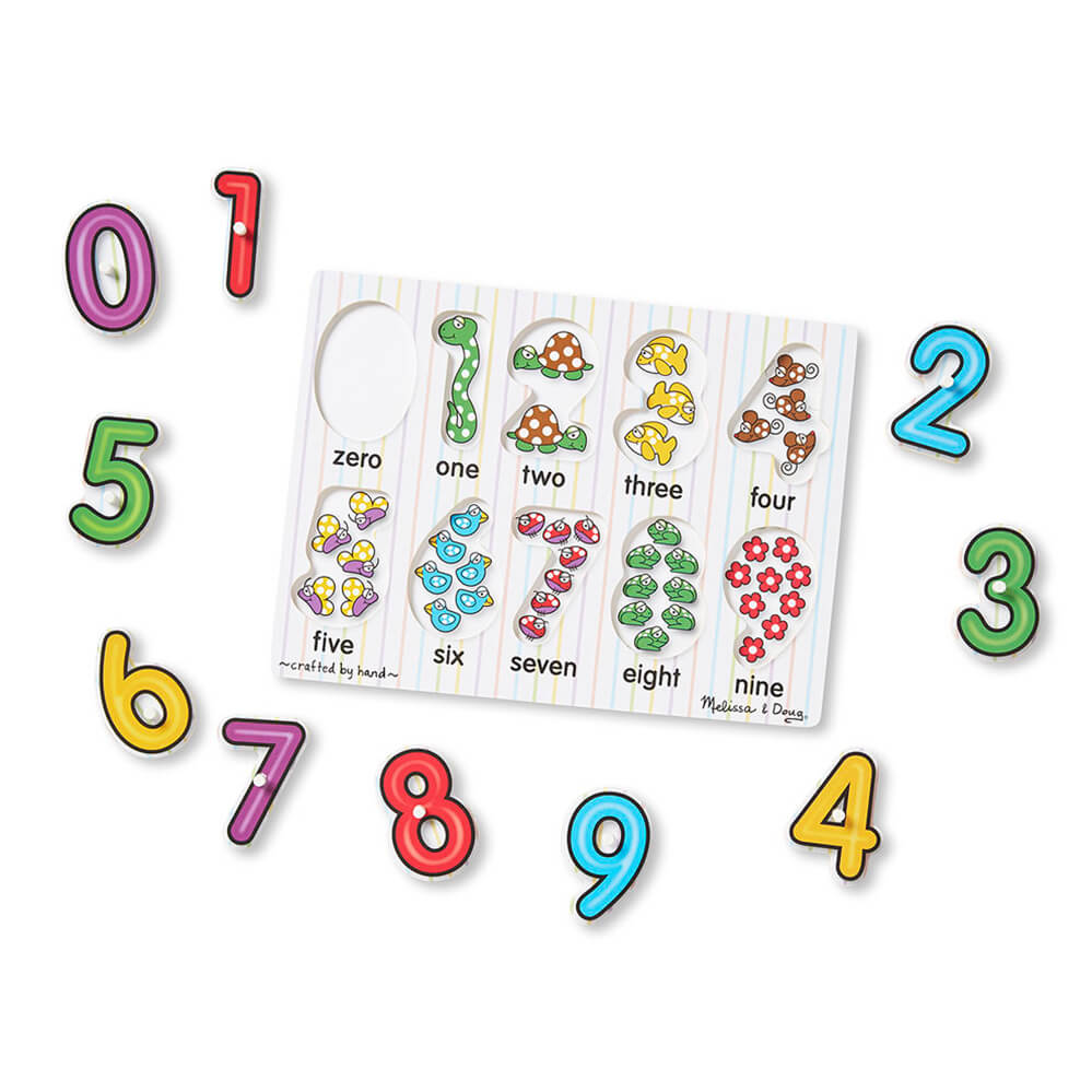 Melissa and Doug See Inside Numbers Peg Puzzle