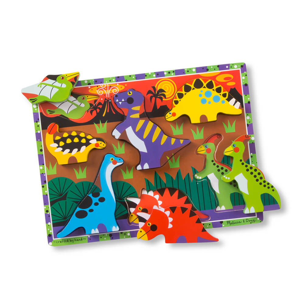 Melissa and Doug Dinosaurs Chunky Puzzle