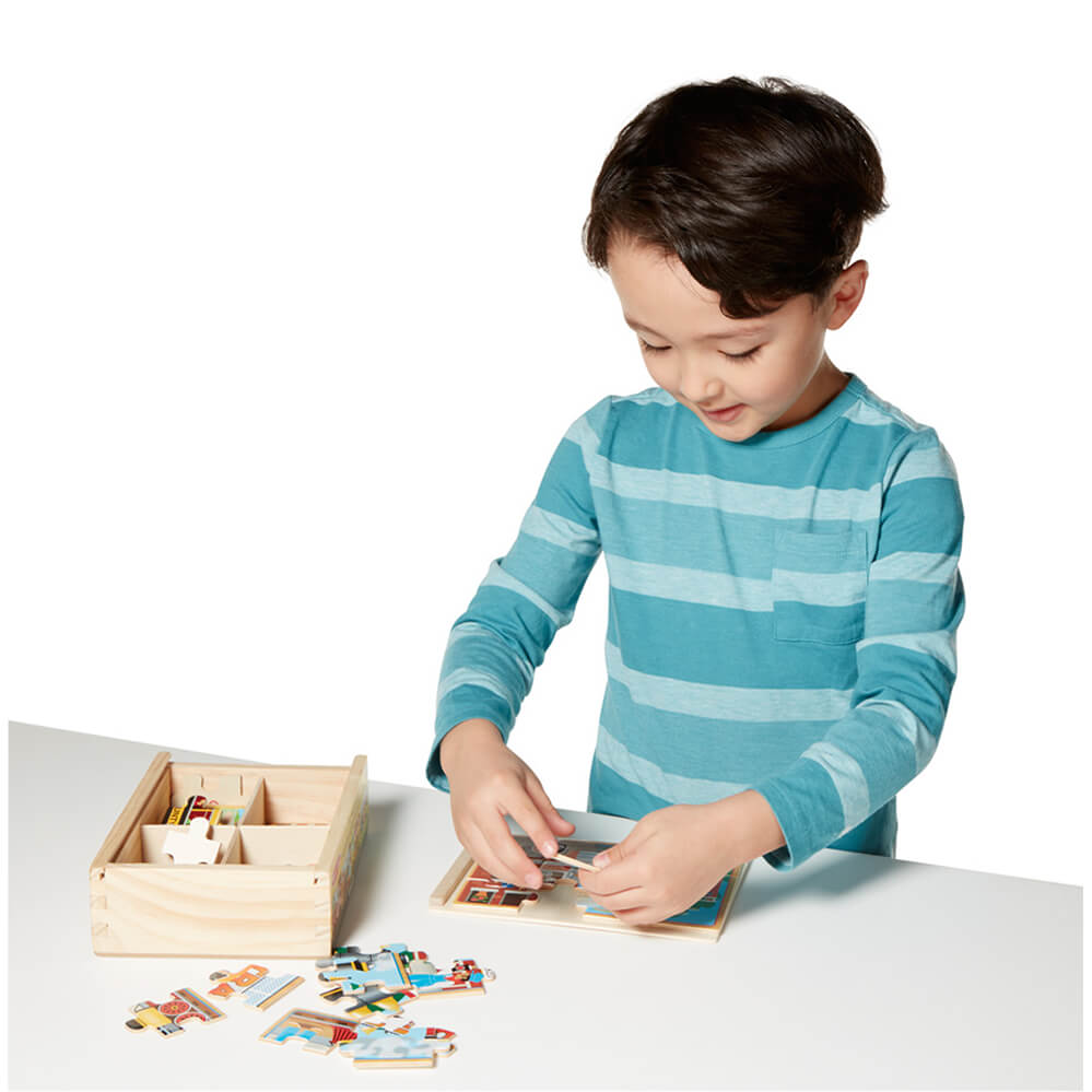 Melissa and Doug Vehicles Puzzle in a Box