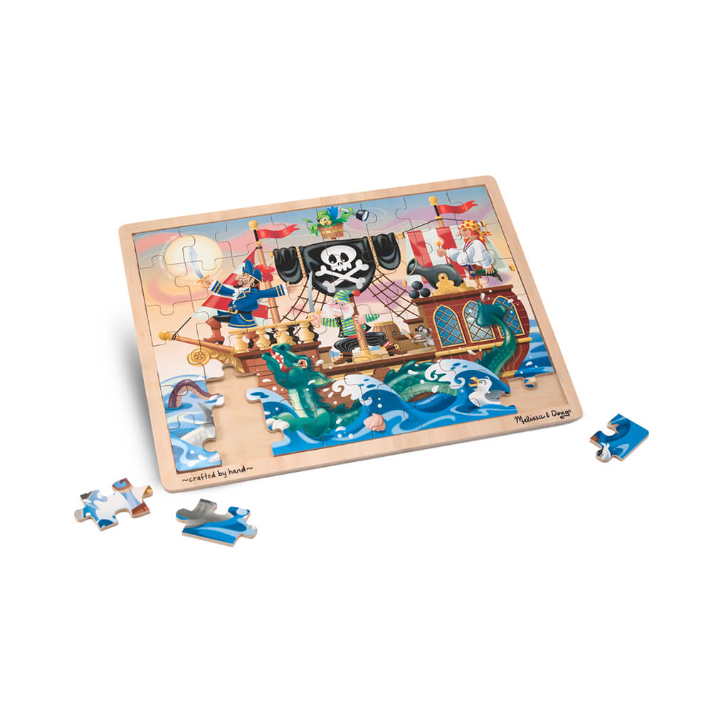 Melissa and Doug Pirate Adventure Wooden Puzzle 48pcs