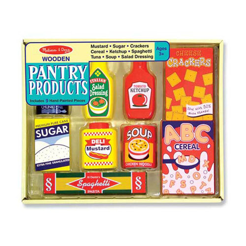 Melissa and Doug Wooden Pantry Products Set