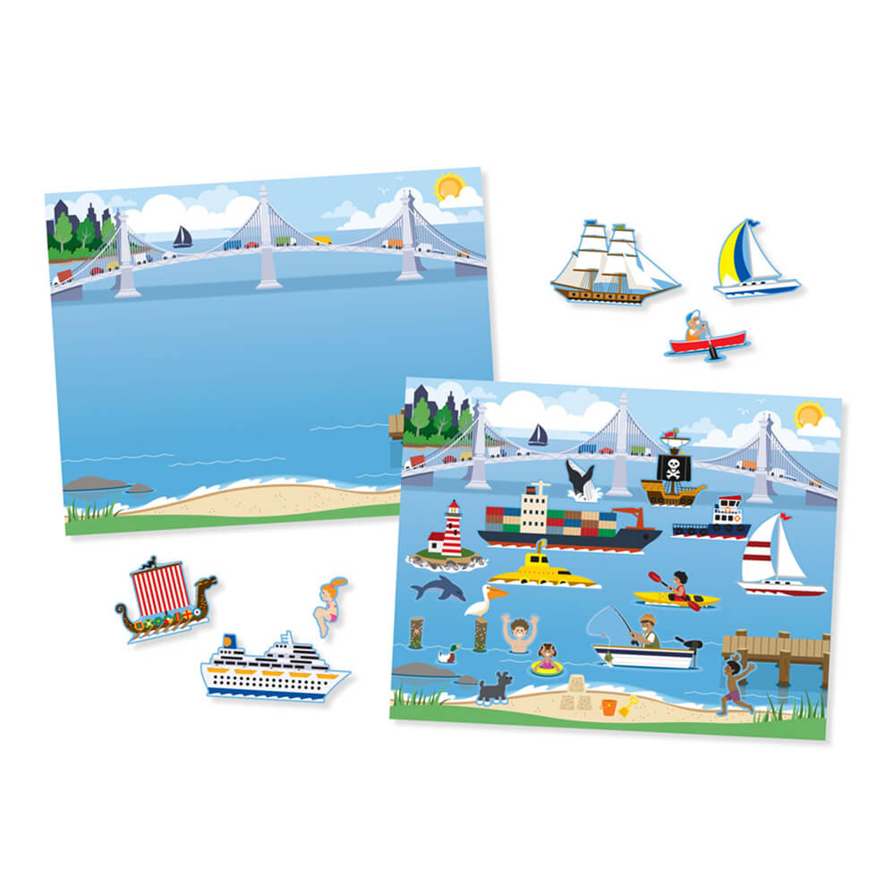 Melissa and Doug Reusable Sticker Pad Vehicles