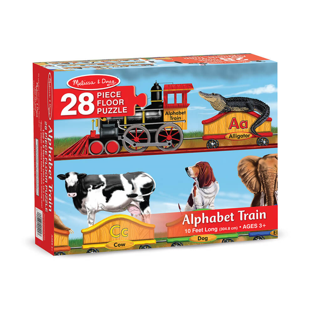 Melissa and Doug Alphabet Train 28pc Floor Puzzle