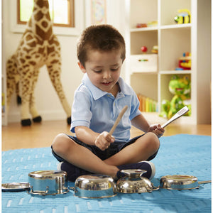 Melissa and Doug Stainless Steel Pots & Pans Set