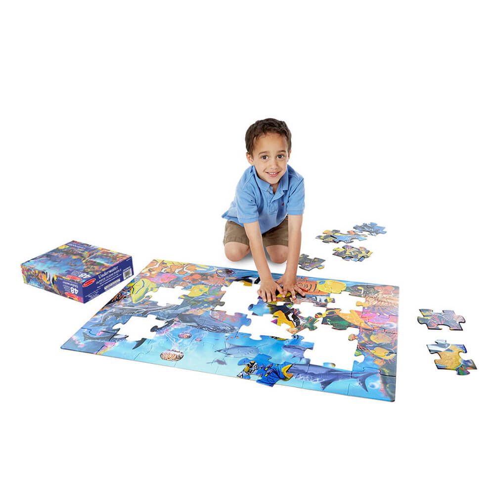 Melissa and Doug Underwater 48pc Floor Puzzle