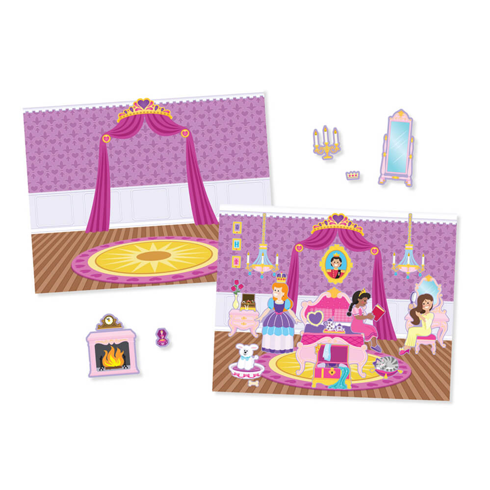 Melissa and Doug Reusable Sticker Pad Princess Castle
