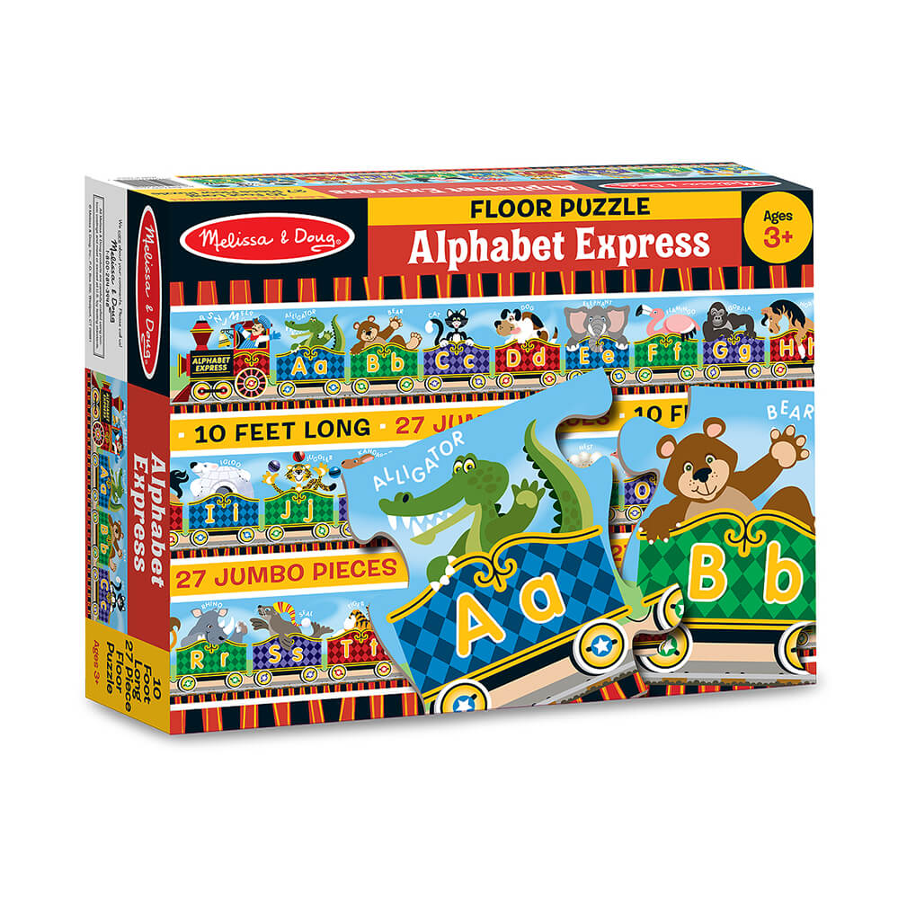 Melissa and Doug Alphabet Express 27pc Floor Puzzle