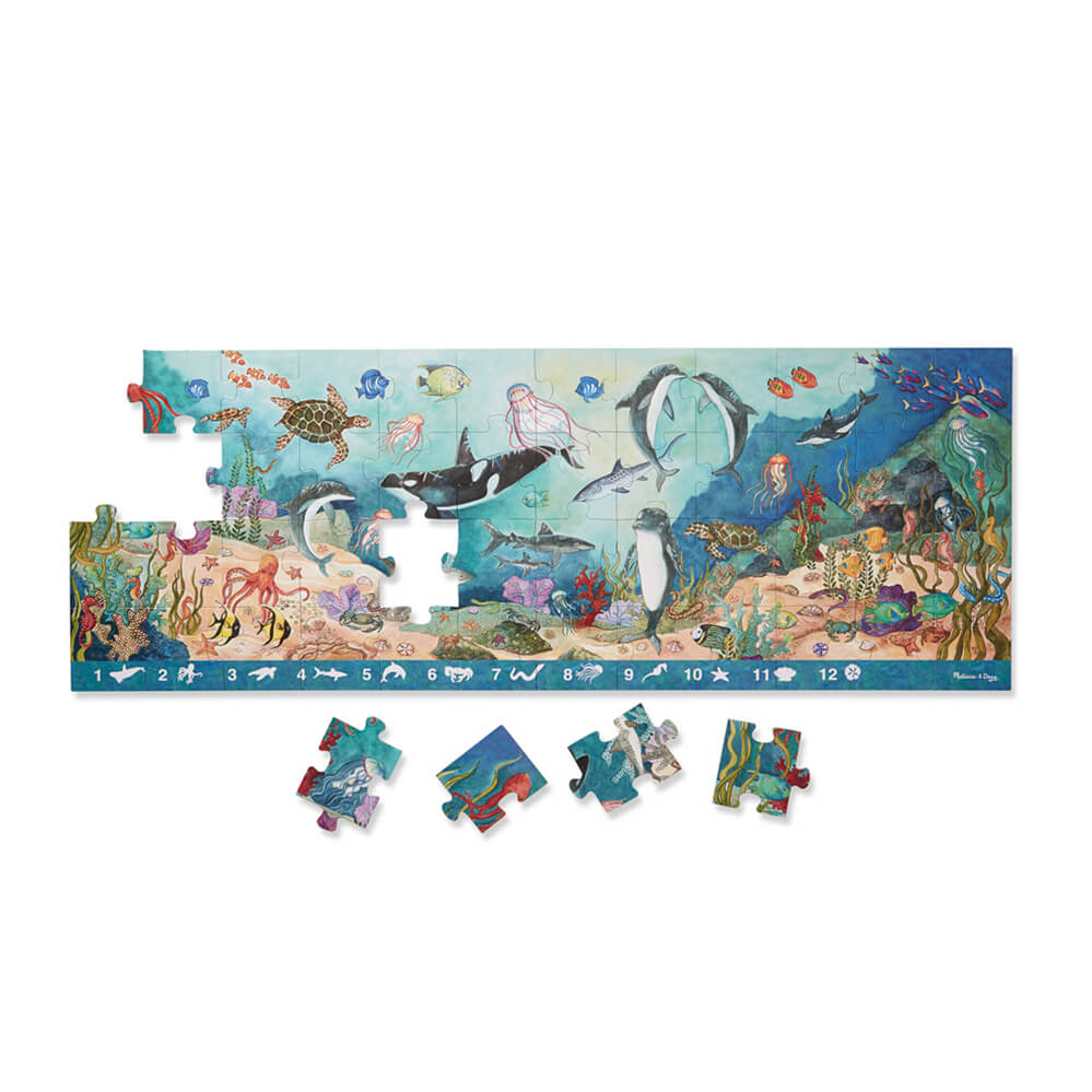 Melissa and Doug Search & Find Under the Sea 48pc Floor Puzzle