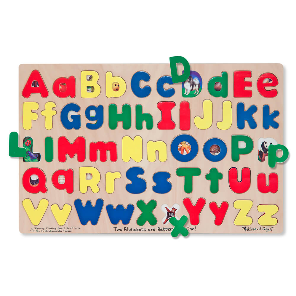 Melissa and Doug Upper & Lowercase Alphabet Puzzle