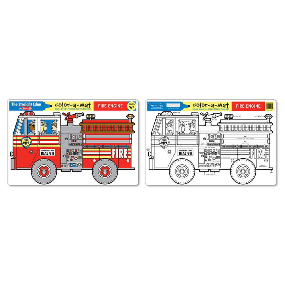 Melissa and Doug Fire Engine Learning Mat