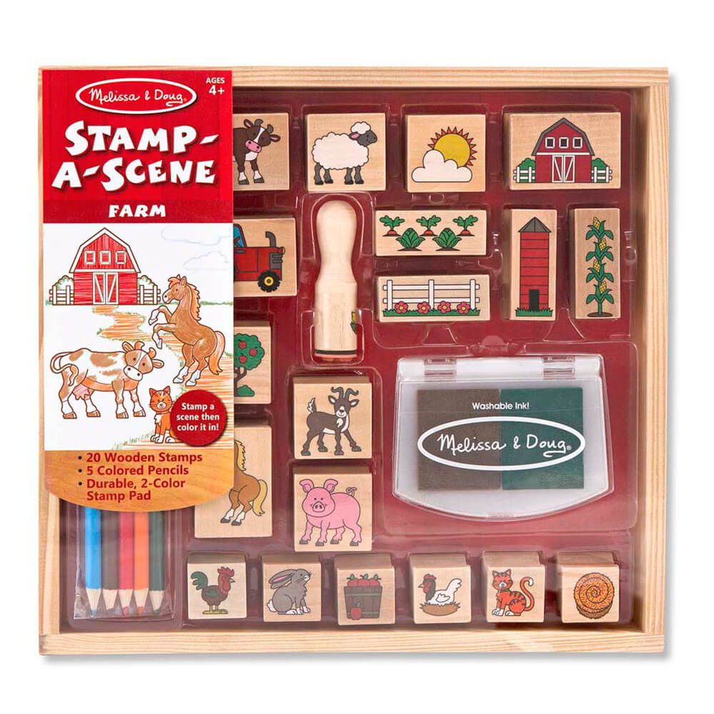 Melissa and Doug Stamp a Scene Farm
