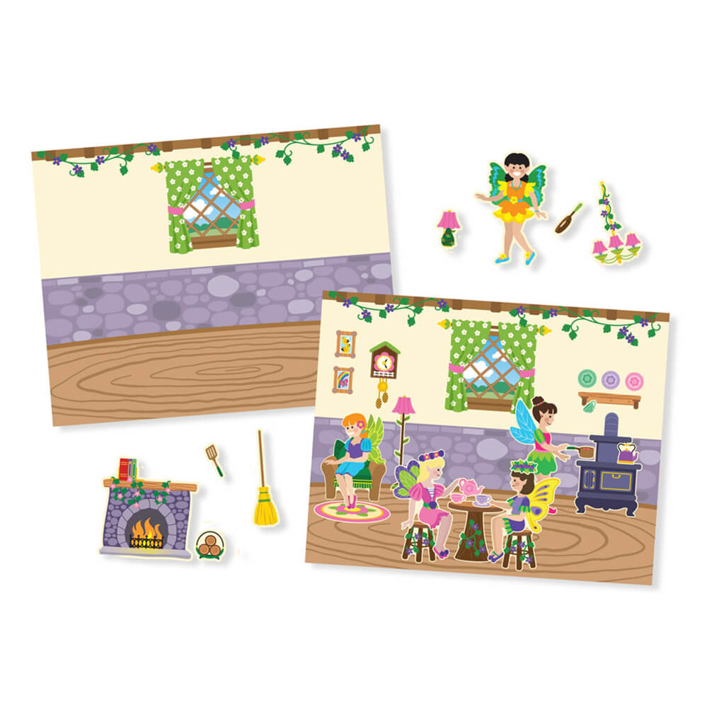 Melissa and Doug Reusable Sticker Pad Fairies