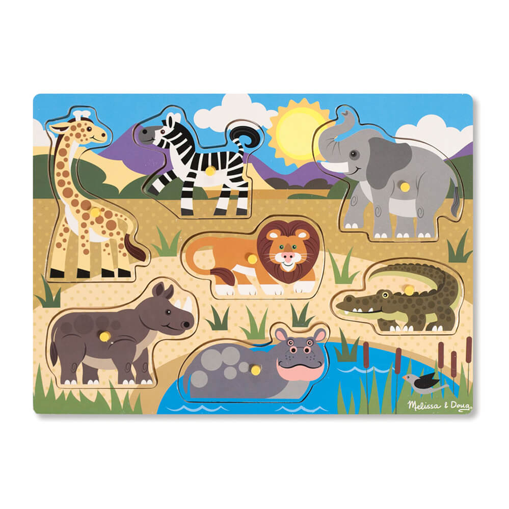 Melissa and Doug Safari Peg Puzzle
