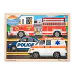 Melissa and Doug To the Rescue Wooden Puzzle 24pcs