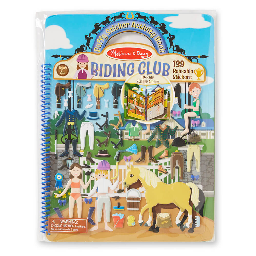 Melissa and Doug Puffy Stickers Album Riding Club