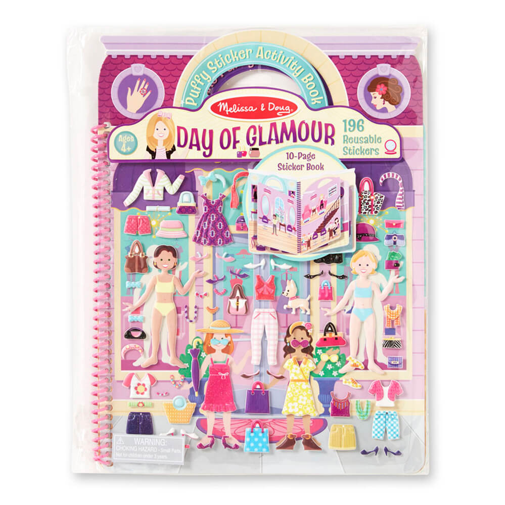 Melissa and Doug Puffy Stickers Album Glamour