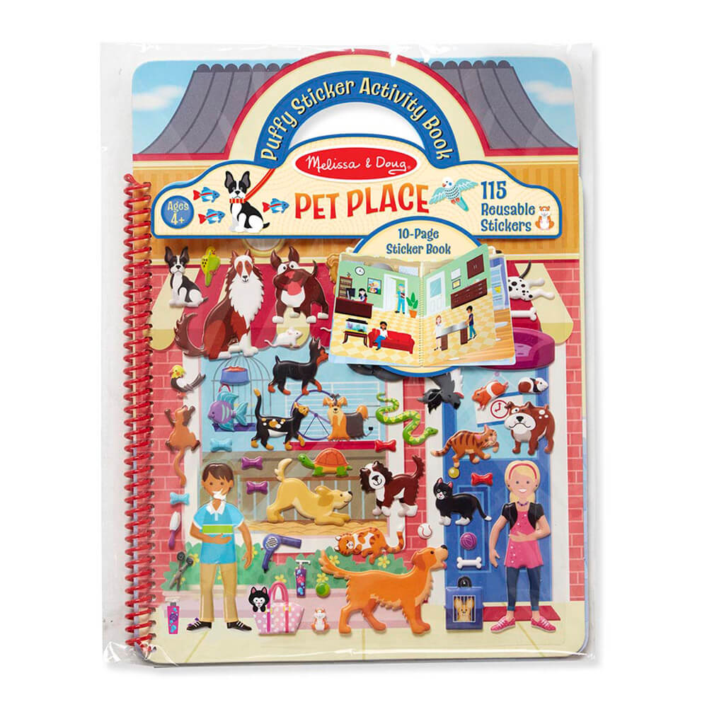 Melissa and Doug Puffy Stickers Album Pet Place