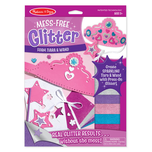 Melissa and Doug Foam Wand & Tiara Mess Free Glitter