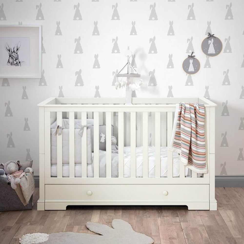 Mamas and Papas Oxford Bright White Cotbed