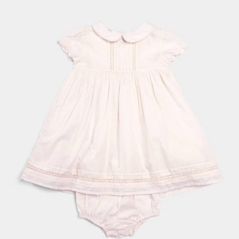 Mamas and Papas Woven Lace Trim Dress with Knickers - 2 Piece Set