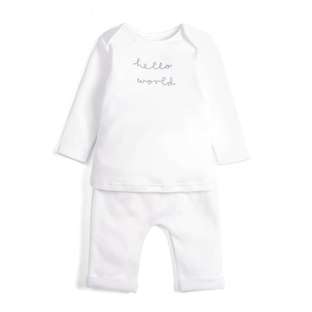 Mamas and Papas Hello World Suit 2pc