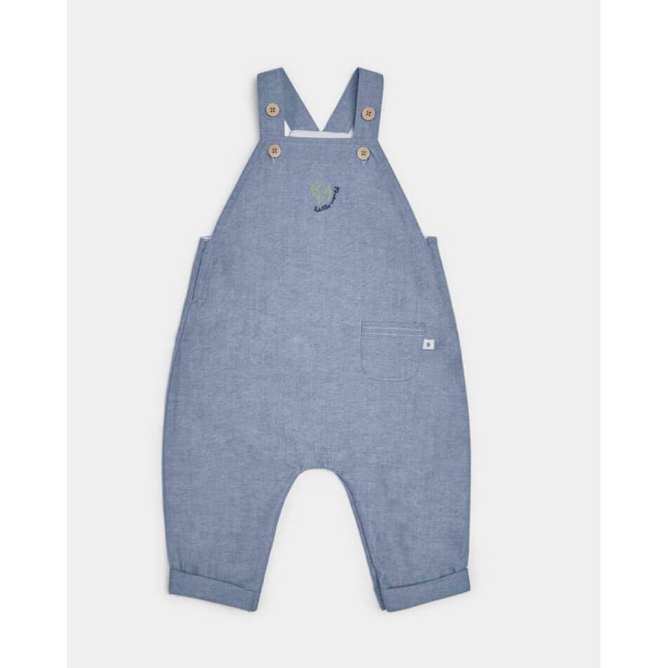 Mamas and Papas Chambray Dungaree & T-Shirt Set - 2 Piece Set