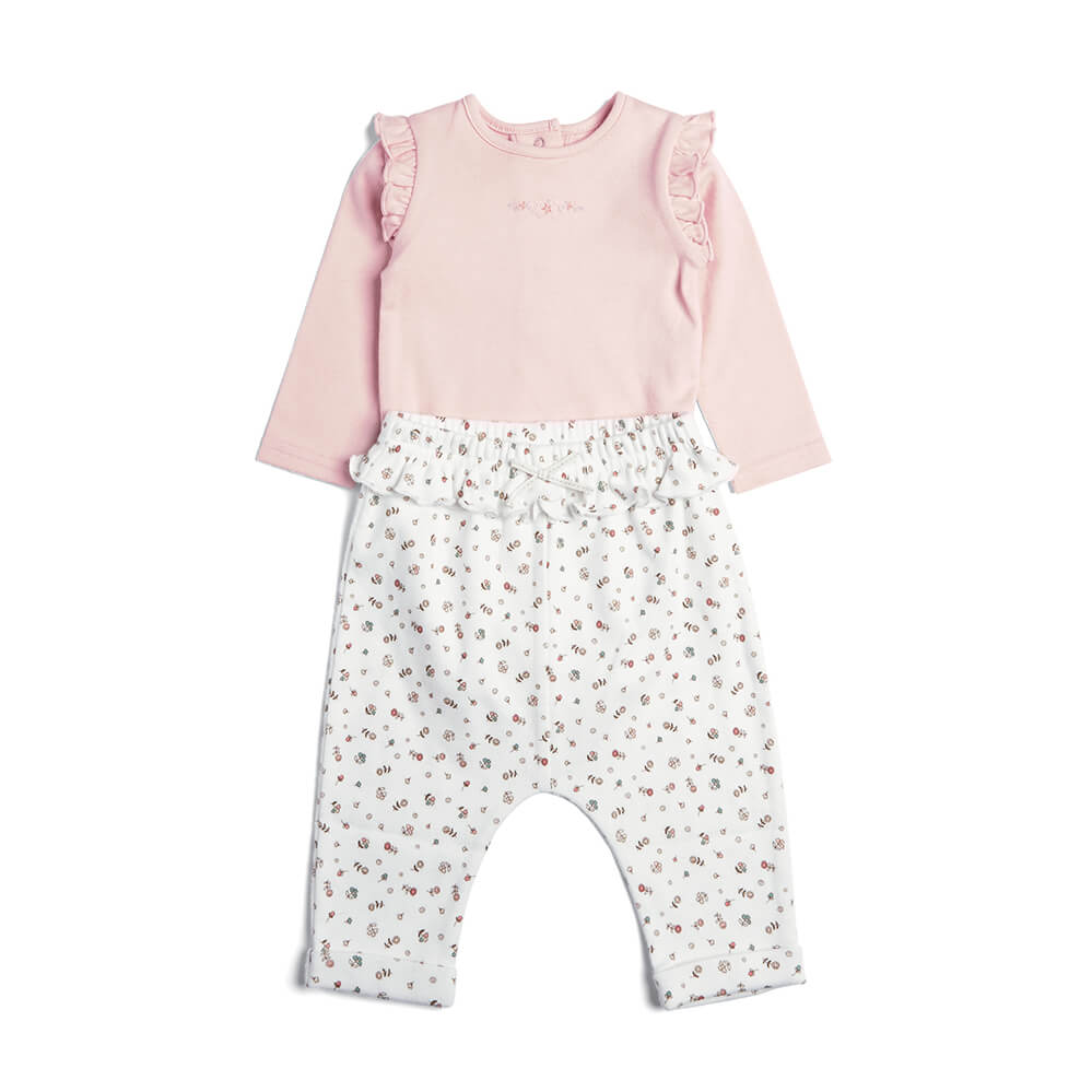 Mamas and Papas Floral Bodysuit & Leggings - 2 Piece Set
