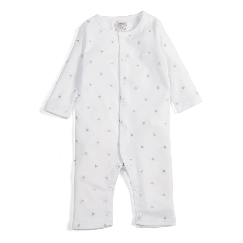 Mamas and Papas White Stars Romper
